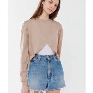 Out From Under- Zac Asymmetrical Long Sleeve Crop